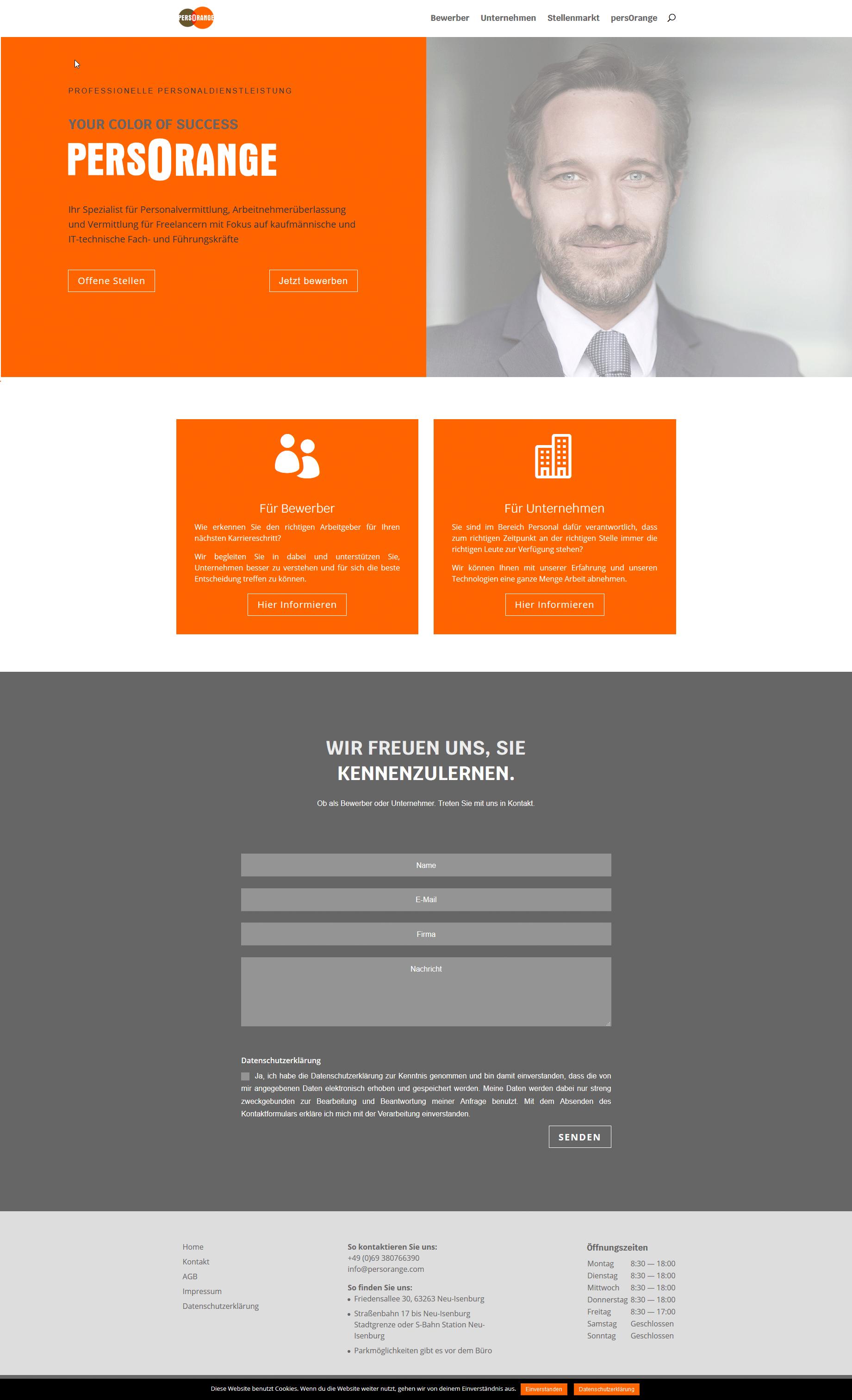 Responsive Homepage mit WordPress - persOrange GmbH