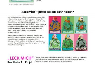 Art Project Leck mich – WordPress