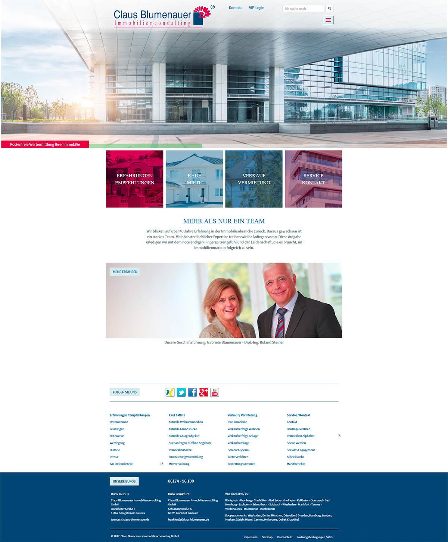 Responsive Website TYPO3 - Claus-Blumenauer Immobilienconsulting