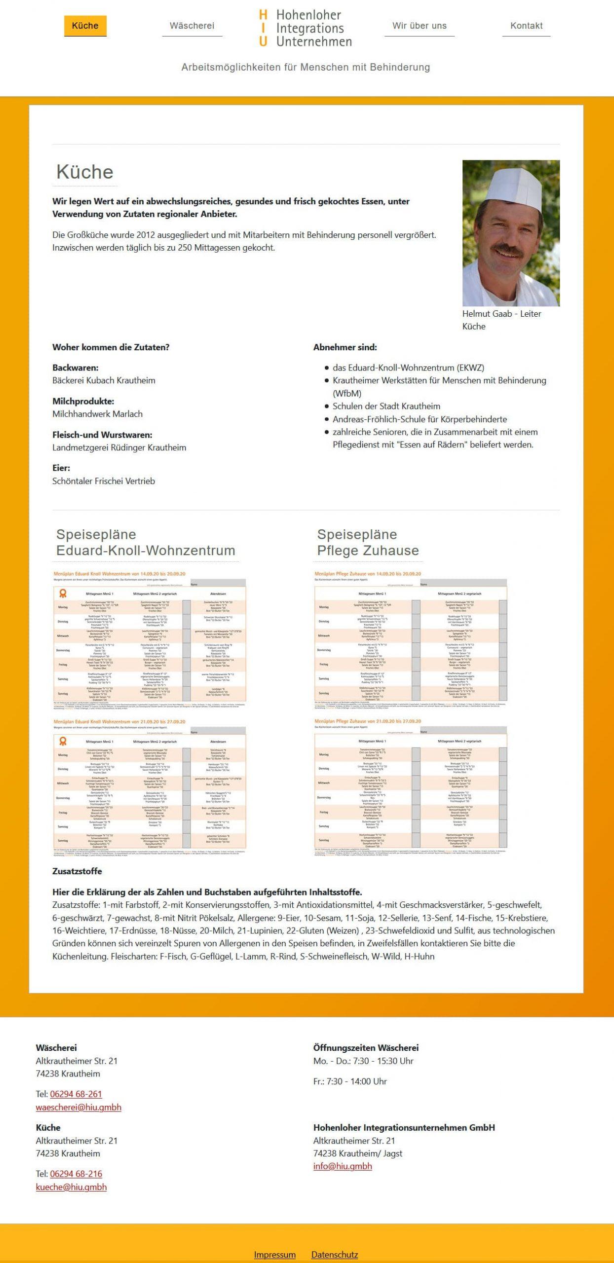 TYPO3 Website - HIU GmbH