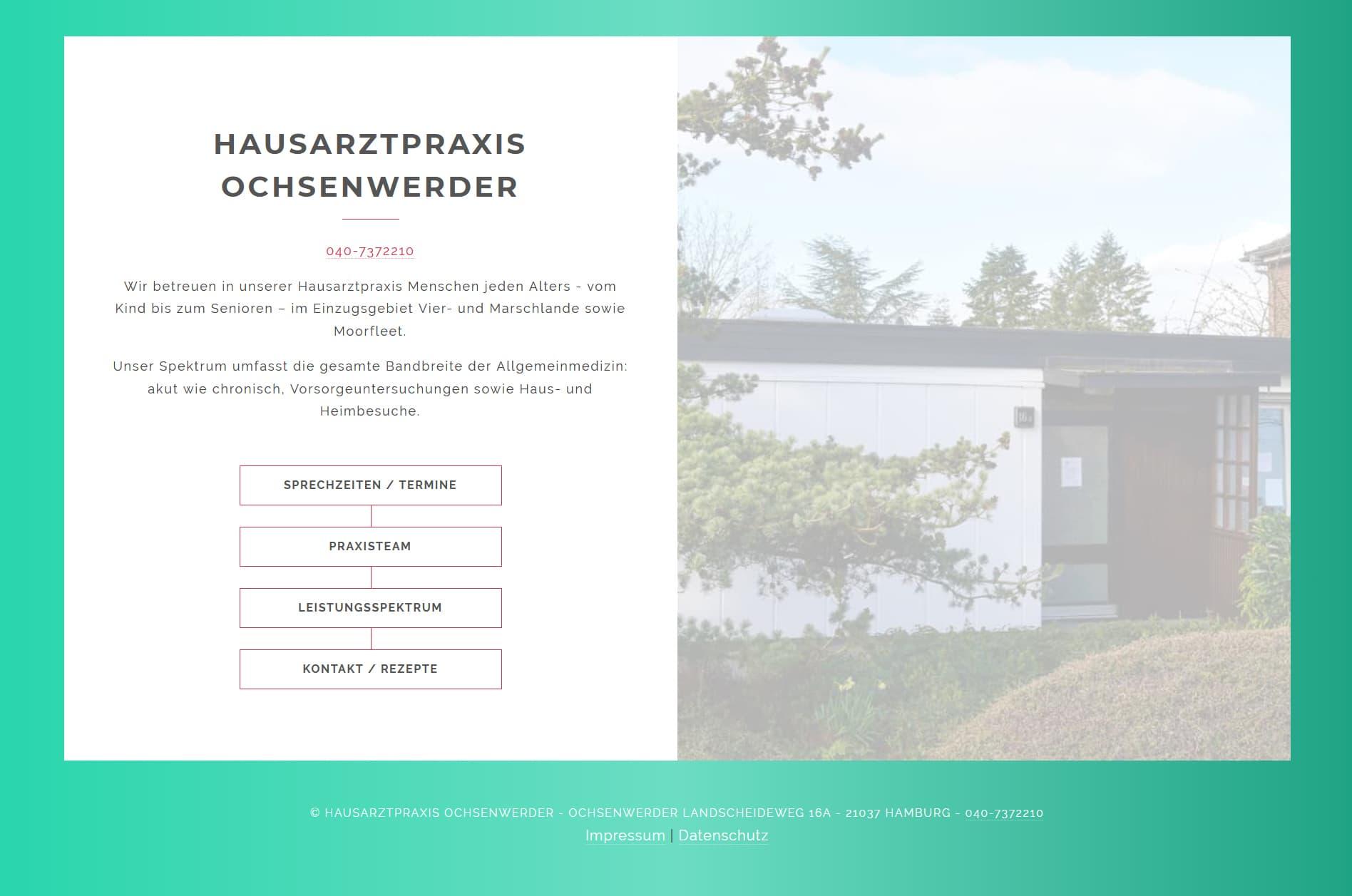 Responisve Website für die Hausarztpraxis Ochsenwerder