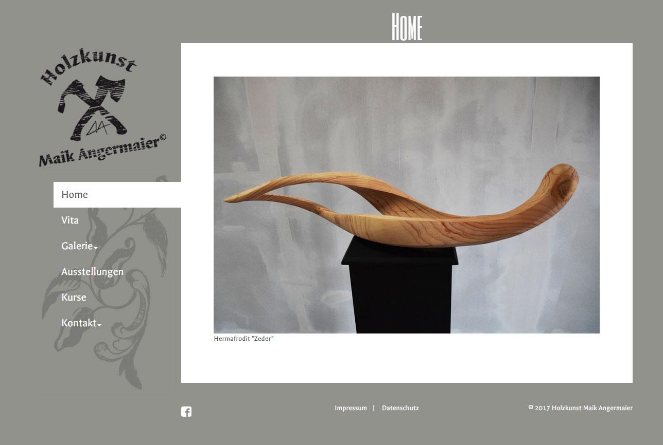 Typo3 Website Holzkunst-Angermaier