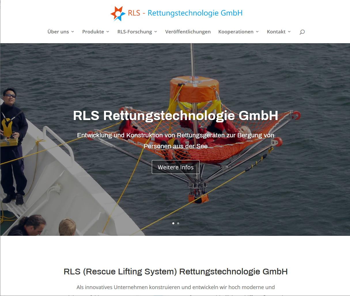 Wordpress Website Responsive - RLS Rettungstechnologie GmbH